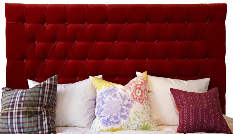 BILDER Sänggavel Exklusiva tygklädda sänggavlar