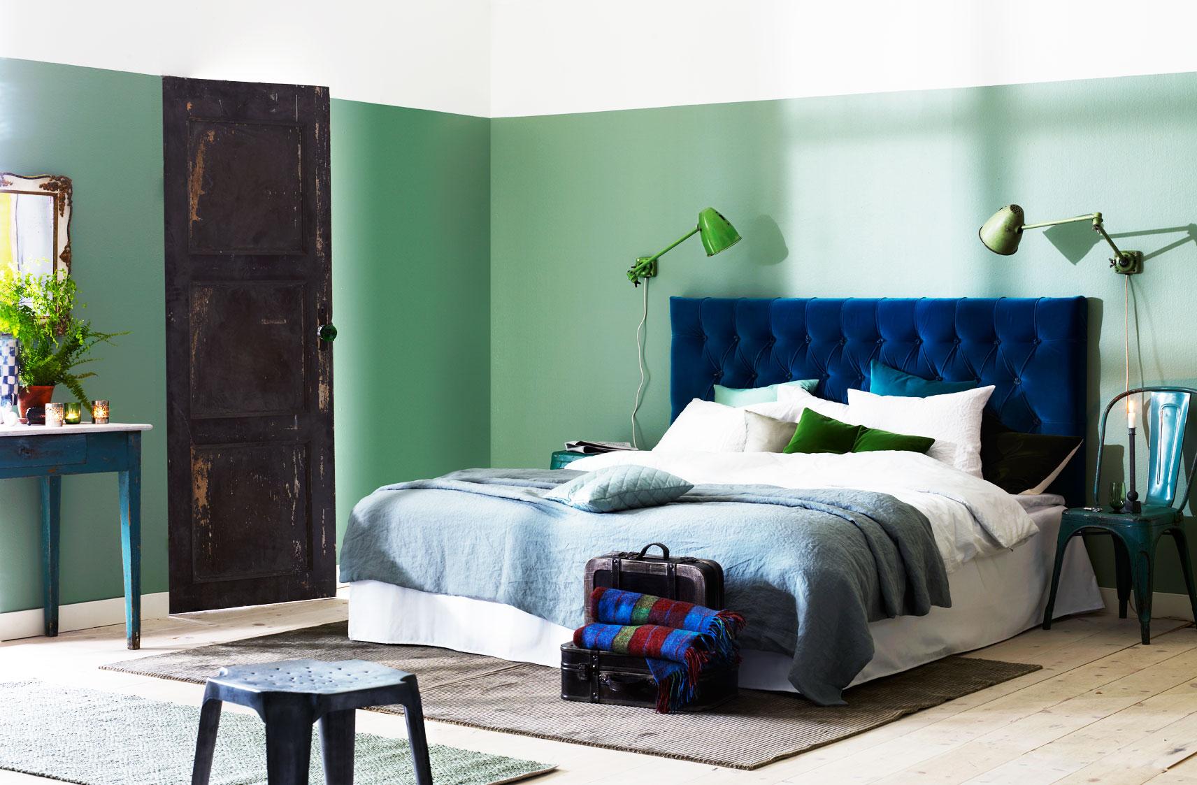 Uttrycksfullt med färg Sänggavel Exklusiva tygklädda sänggavlar