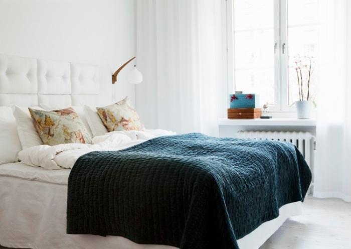 Sänggavel Exklusiva tygklädda sängga